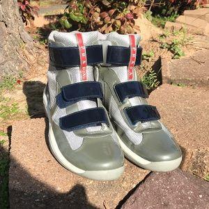 Prada high top sneakers men's Sz. 6.5